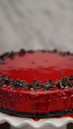 Unleash your inner vampire with creepy, yet delicious, holiday cheesecake.