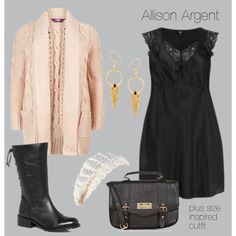 """""""Allison Argent, inspired outfit with a satin dress"""""""