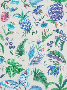 Habanera Pebble, Ultramarine & Cerulean Blue wallpaper by Matthew Williamson