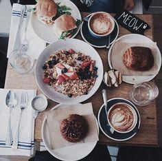 Café. Bread. Breakfast.