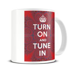 MG032 Magoo Turn on and Tune In Funny Psychedelic Gift Mug - groovy mug