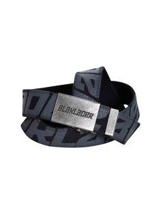 Zeige Details für Gürtel 4033-0000: Gürtel, Breite 4 x 125 cm, schwarz mit grau eingewebtem Blakläder Logo, blanke Schnalle im ´´Used-Look´, Mit Blåkläder Logo, Universallänge, Einfach kürzbar, Qualität 0000: N/A, Farben: 9900 Schwarz ,Größe: One size