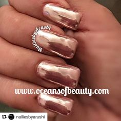 Mirror Nails, Mirror Art, Diy Nails, Manicure, Mirror Powder, Rose Gold Mirror, Gold Powder, Dipped Nails, Chrome Nails