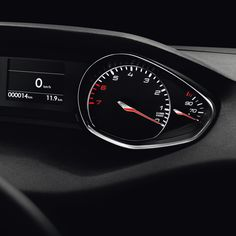 """#Peugeot #308: Meeting a demanding set of specifications, the driving position includes a small steering wheel, a heads up display with a clean design, a 9.7"""" touchscreen tablet*, and an eye-level instrument panel."""