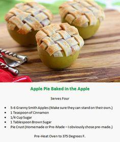 DIY Apple Pie Baked in the Apples