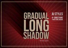 Gradual Long Shadow AI style by leezarius on @creativemarket