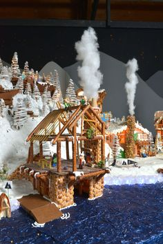 The coordinators of RLPS' massive gingerbread village share tips on building with snack foods and sweets. Cool Gingerbread Houses, Gingerbread Village, Gingerbread Decorations, Christmas Gingerbread House, Christmas Cookies, Gingerbread Cookies, Christmas Baking, Christmas Fun, Xmas
