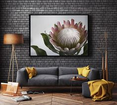 King Protea Print DIGITAL DOWNLOAD Wall Decor Living Room