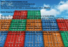 Please FOLLOW US on Twitter @StellaShipping Shipping Containers For Sale, Container Conversions, Good Company, South Africa, Sign, Twitter, Google, Signs, Board