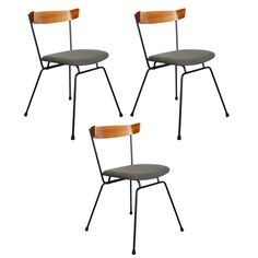 Clifford Pascoe Iron and Walnut Chairs 1