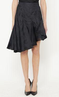 Ruffled Black Skirt