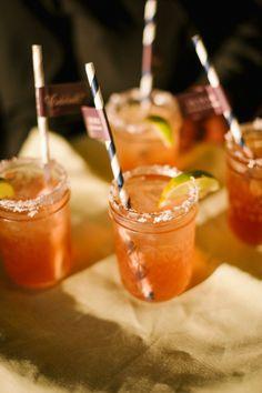 Mason Jar Margaritas | A Dominick Events | King Family Vineyards | www.theknot.com