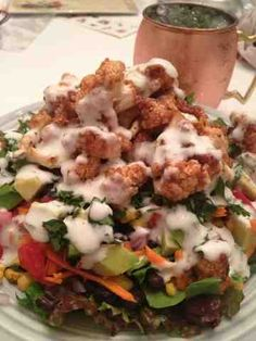 366 Meals We Made: BBQ cauliflower salad...YUM!!!