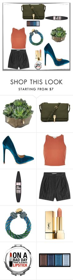 """der Meinungen"" by anna-modestovna ❤ liked on Polyvore featuring Elizabeth and James, Liliana, River Island, Maybelline, Philosophy di Lorenzo Serafini, Aurélie Bidermann and Clé de Peau Beauté"