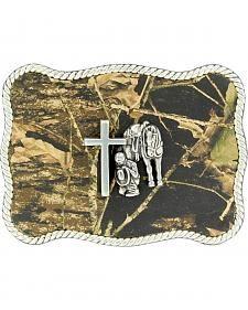 Nocona Camo Cowboy Prayer Belt Buckle