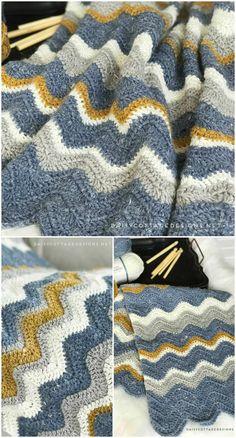 Pretty Chevron Blanket Crochet Pattern Free Crochet Blanket Patterns Free Patterns