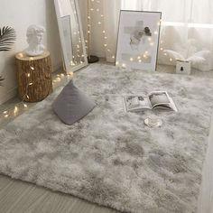 Sariah - Plush Soft Area Rug - Light Gray / Small - 24 x 47 (60 x 120cm)