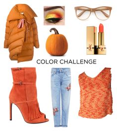 """""""Sin título #35"""" by sandra-gonz on Polyvore featuring Marques'Almeida, Chanel, Citizens of Humanity, Gucci, Wildfox, Yves Saint Laurent, colorchallenge y pumpkinandburgundy"""