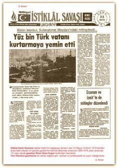 23.05.1919 İstiklal Harbi Gazetesi İstiklal Harbinin başlangıç dönemi olan 15 Mayıs-18 Ekim 1919 tarihleri arasındaki olayları bir günlük gazete formatında aktarmak amacıyla 1969-1970 yılları arasında 131 sayı olarak gazeteci Ömer Sami Coşar tarafından hazırlandı. Yeni İstanbul gazetesine ek olarak dağıtılmıştır. tarihsel ve ansiklopedik bir yayın niteliğindedir. Republic Of Turkey, The Republic, Turkish War Of Independence, Turkish Army, The Turk, Great Leaders, Revolutionaries, Once Upon A Time, Art History