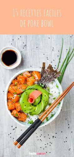 Poke bowl: the fresh Hawaiian recipe healthy and greedy! 15 easy poke bowl recipes here! Best Brunch Recipes, Easy Healthy Recipes, Asian Recipes, Easy Salads, Easy Meals, Foods With Gluten, The Fresh, Diet And Nutrition, Nutrition Classes