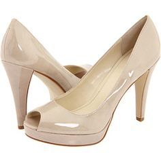 The bride requests nude peeptoes. Yes, I own these in black. But they're cute and comfortable!