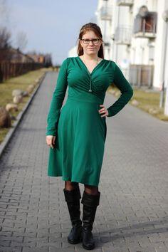 Koperta long butelkowa zieleń - Dress