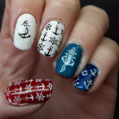 Ahoy! Sailor nails.