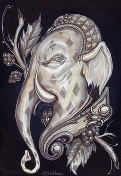 """Elfont"" - acrylic. Greg Craola Simkins"