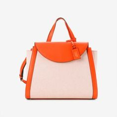 The A Satchel in Canvas and Leather