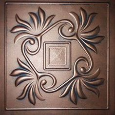 """Faux Ceiling Tile - 20x20"""" Laura Antique Copper Graphite Foam   Would Need 60  At $4.00 that would be $240.00"""