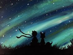 the little prince acrylic painting