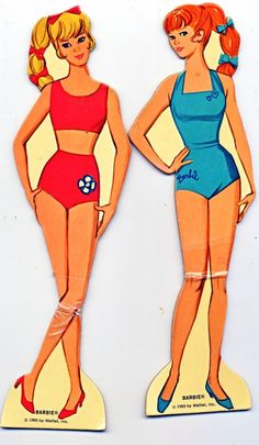 Vintage 1969 Mod Barbie Paper Dolls Clothes Box by by lindapaloma