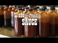 If you're one of *those* who like sauce, learn this basic Texas recipe to serve alongside your meat. This video is an excerpt from BBQ with Franklin: The Pay. Pineapple Barbecue Sauce Recipe, Barbecue Sauce Recipe For Chicken, Texas Bbq Sauce, Franklin Bbq, Carolina Bbq Sauce, Bbq Pitmasters, Homemade Bbq, Bbq Meat, Bbq Sauces