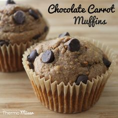 Choc Carrot Muffins | The Road to Loving My Thermo Mixer