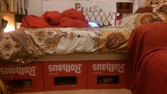 Beer boxes bed