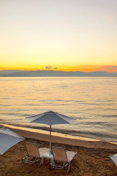 Beach Sunset, Corfu, Greece