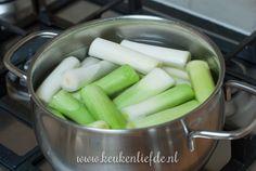Preirolletjes met ham en kaassaus uit de oven - Keuken♥Liefde Celery, Vegetables, Food, Essen, Vegetable Recipes, Meals, Yemek, Veggies, Eten