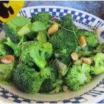 Stir-Fried Broccoli With Almonds  #healthy side dish. http://yummytastykitchen.com/stir-fried-broccoli-with-almonds/