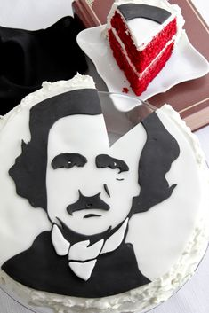 Portrait of Poe in Waldorf Astoria Red Velvet