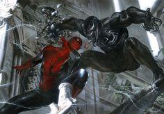 Spider-Man - The Encounter - Venom by Marvel Comics presented by World Wide Art Marvel Comics Art, Marvel Comic Books, Comic Book Characters, Marvel Heroes, Comic Character, Comic Books Art, Comic Art, Book Art, Marvel Villains