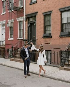 """Greg Finck on Instagram: """"Strolling the streets of the Village and reminiscing about A&J's engagement session there last year. So much love for this couple! Bride's…"""" Engagement Photo Outfits, Engagement Session, Engagement Photos, So Much Love, Bride, Street, Couples, Instagram, Inspiration"""