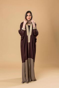 Hijab Gown, Hijab Outfit, Caftan Dress, I Dress, Hijab Trends, Hijab Ideas, Modern Abaya, Abaya Designs, Abaya Fashion