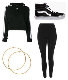 """Untitled #29"" by alaninaissant on Polyvore featuring adidas, Topshop and Vans"