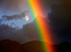 Learn from the wisdom of our New Moon forecasts and Full Moon forecasts. The New & Full Moon Forecast Rainbow Promise, Love Rainbow, Over The Rainbow, Rainbow Colors, Aurora, Cool Pictures, Cool Photos, Rainbow Photography, Somewhere Over