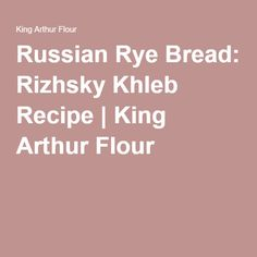 russian rye bread recipe bread machine