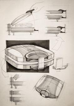 Iuliia Kalichkina (School of Form), toaster explanatory sketches
