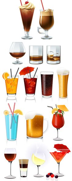 Cool Tempting Drinks Vector Material | Lazy Drawing