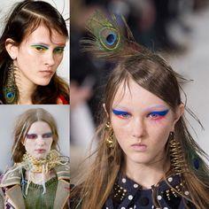 """Pat McGrath for Maison Margiela - Paris a/w18 the inspiration was """"birds of paradise"""""""