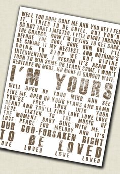 Word Art lyrics favorite song Wedding vow by GeezeesCustomCanvas,