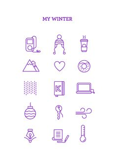 MY WINTER ICONS on Behance